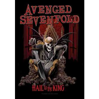 vlajka Avenged Sevenfold - Hail To The King, HEART ROCK, Avenged Sevenfold