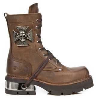 boty NEW ROCK - VENTURE AVIADOR MARRON M3 ACERO ORIF, NEW ROCK