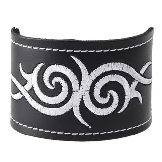 náramek Tribal - White, BLACK & METAL