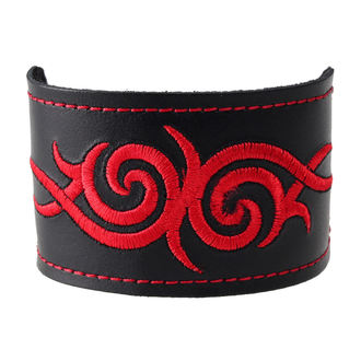náramek Tribal - Red, BLACK & METAL