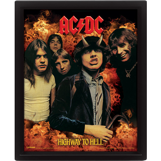 3D obraz AC/DC - Highway to Hell, PYRAMID POSTERS, AC-DC